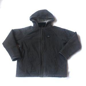 Boys Tough Wear Brown Coat L